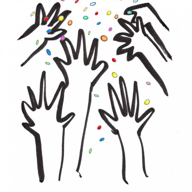 mani mod coriandoli
